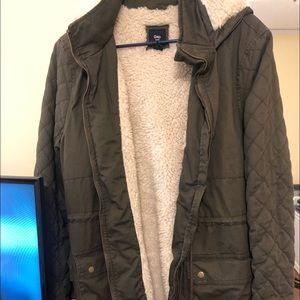 Gap army green winter jacket
